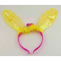 Ушки Кролика светящиеся (желтые) 021216-006