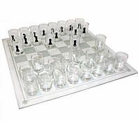 Шахматы рюмки стеклянные, 25 см, фото 1