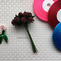 """Пучок цветов """"Тути"""" для веночков, бордовый., фото 1"""