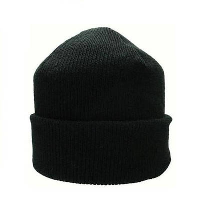 Шапка вязаная зимняя черная, фото 2