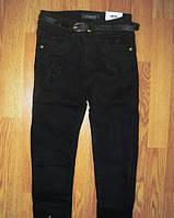 Коттоновые утепленные брюки для девочек. Школьная модель. Фирма Seagull, Венгрия. Размеры 116-146