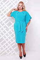 Бирюзовое женское платье Кармен   48-56 размеры