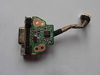 Шлейф, плата, разъем VGA Toshiba Satellite T130, T131, T132, T135, 3NBU3CB0000