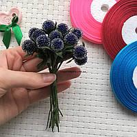 "Пучок цветов ""Тути"" для веночков, синий."