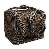 Саквояж, чемодан мастера маникюра и педикюра, кейс для визажа (розовый лак крокодил