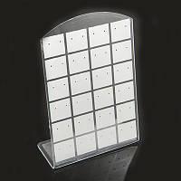 Подставка для Сережек, Белая, Размер: Высота 13см, Ширина 9см, (УТ0031676)