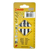 Пилки для лобзиков Rebir T244D, 5 штук/упаковка, 100 мм, HCS, АКУЛИЙ ЗУБ
