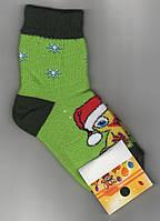 Носки детские х/б махровые Смалий, 18 размер, рисунок 65, салатовые, 10552