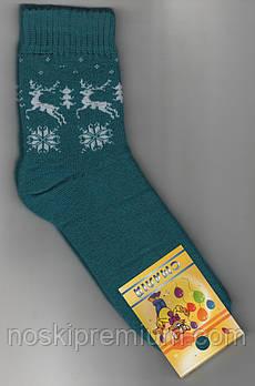 Носки детские х/б махровые Смалий, 20 размер, рисунок 19, бирюзовые, 10557