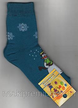 Носки детские х/б махровые Смалий, 20 размер, рисунок 48, бирюзовые, 10558