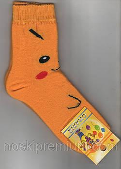 Носки детские х/б махровые Смалий, 20 размер, рисунок 47, жёлтые, 10560