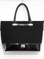 Каркасная деловая сумка, натуральный замш черный