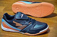Футзалки бампи кроссовки Грасеп мужские темно синие 2016.Со скидкой