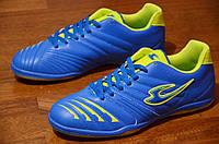 Футзалки бампи кроссовки мужские удобные Лонкаст синие 2016.Со скидкой