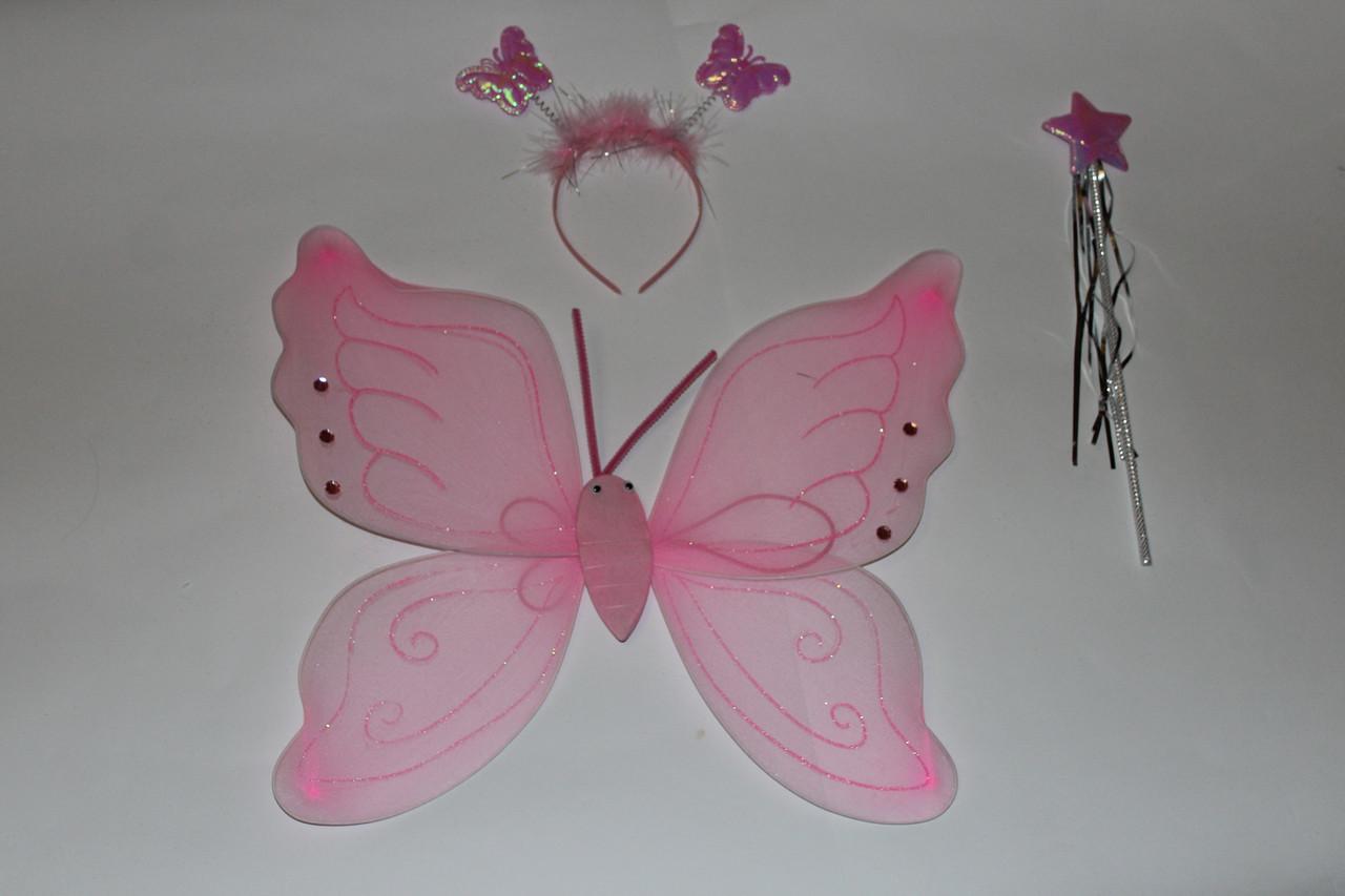 Крылья Бабочка Мотылёк Розовые