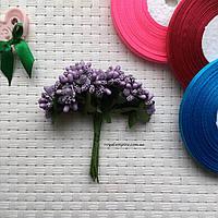 """Пучок цветов """"Тычинка"""" для веночков,фиолетовый."""