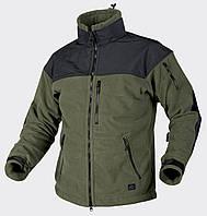 Куртка CLASSIC ARMY - Fleece Windblocker - олива/черная ||BL-CAF-FM-16