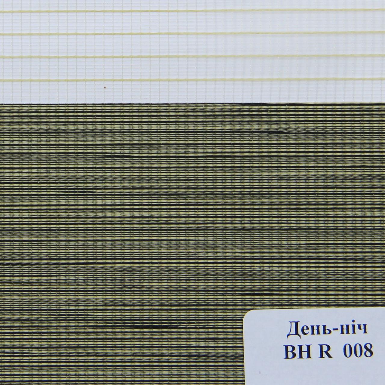 Рулонные шторы День-Ночь Ткань Зебрано ВН R 008 Зелёный