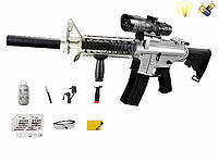 Автомат игрушечный M16 (DL999-2B) на акамуляторе, стреляет очередью, детское оружие, водяные пули орбизы
