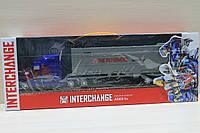 Трансформер трейлер кабина-робот, в кузове легковушка