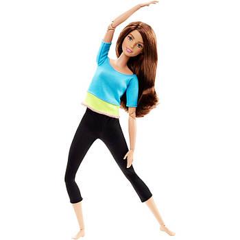 Лялька Барбі з серії Безмежні руху Блакитний топ Йога