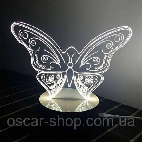 3D Светильник в виде Бабочки