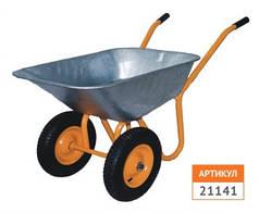 Тачка строительная профи 90л/180 кг, двухколесная колесо 400 мм