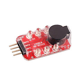 Звуковой LED индикатор заряда Li-Po батареи 2S-3S [8FIELDS]||VB-SLIPOALARM3S