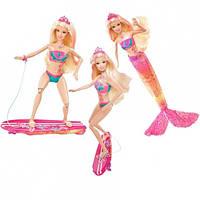1 Кукла Барби коллекция Русалки (кукла Merliah) с сёрфом Barbie Mattel (волосы в воде меняют цвет)