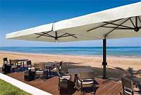 Гигантский зонт ДАБЛ для летних площадок кафе и ресторанов