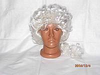 Парик женский  белые волосы