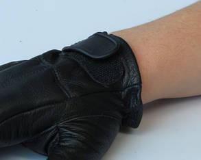 Перчатки тактические кожаные без пальцев DEFENDER, фото 2