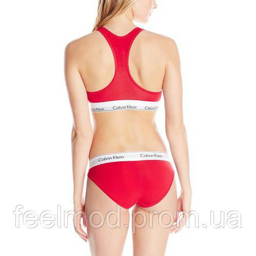 91072eb084bc Набор женского белья Calvin Klein слипы красный M