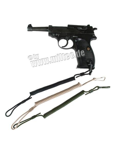 Шнур пистолетный страховочный спиральный ЧЁРНЫЙ