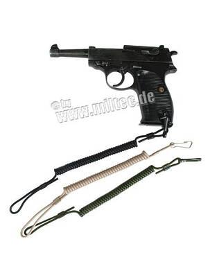 Шнур пистолетный страховочный спиральный ЧЁРНЫЙ, фото 2
