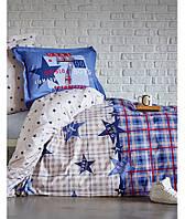 Подростковое постельное белье 160х220 KARACA HOME PEACE MAVI