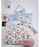 Подростковое постельное белье 160х220 KARACA HOME PAISE MAVI