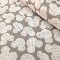 Хлопковая ткань мики маус на сером фоне №375
