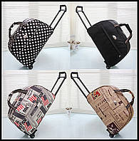 Дорожные сумки на колесах с принтами
