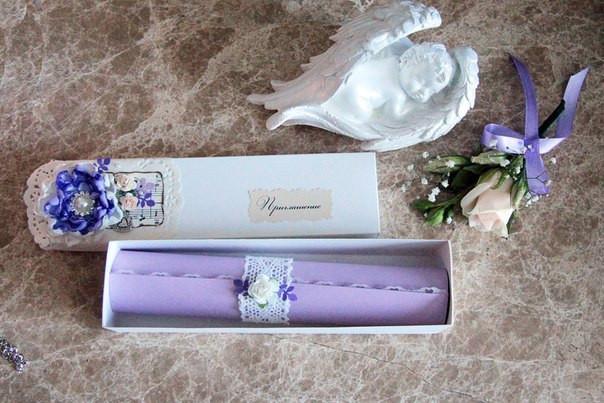 Свадьба в цветовой палитре лаванда+персик с элементами кружева