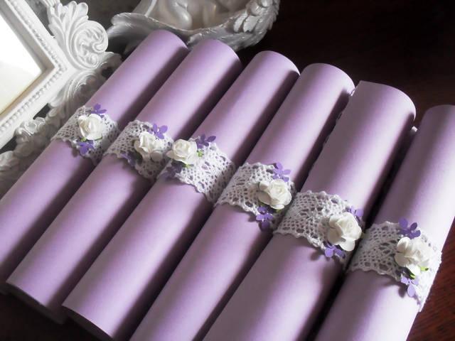 Свадьба в цветовой палитре лаванда+персик с элементами кружева 3