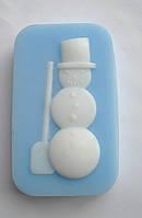 Снеговик силиконовая форма