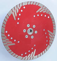Алмазный диск с фланцем для глубокой резки гранита, бетона RED Turbo 200x2,4/1,6x10/35L5x22,23/F-М14