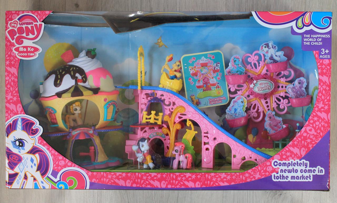 Литл Поли Большой игровой набор дом, карусель  в коробке 66*36*16 см - Style-Baby детский магазин в Киеве