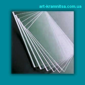 Пластиковое стекло (толщина 1 мм) резаное размером 10х15см