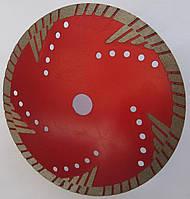 Алмазный диск  для глубокой резки гранита, армированного бетона  RED Turbo 200x2,4/1,6x10/35L5x22,23