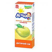 Сок с мякотью Яблоко-Банан Агуша, 200 мл