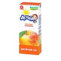 Яблочный сок с мякотью для детей Агуша, 200 мл
