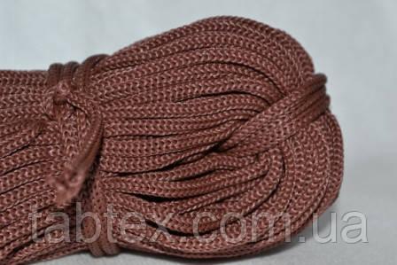 Шнуры вязанные  4 мм 90 м(0,280-0,290кг) . коричневый