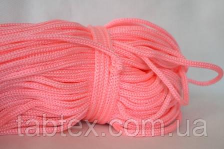 Шнуры вязанные  4 мм 90 м(0,280-0,290кг) . розовый ярк.